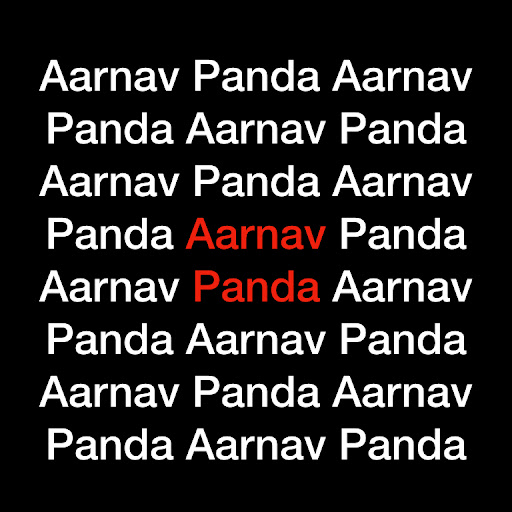 Who is AARNAV PANDA?