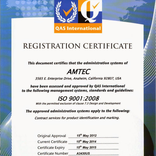 Who is Amtec Inc?