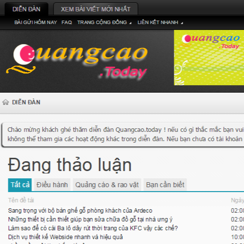 Who is Quangcao .today?