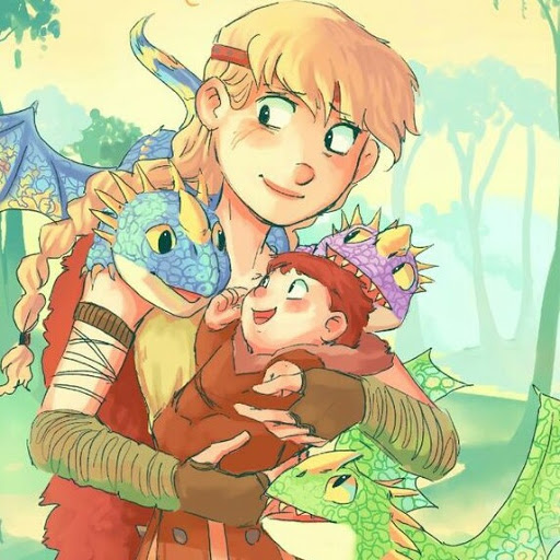 Astrid Hofferson and Stormfly (Stormstrid)